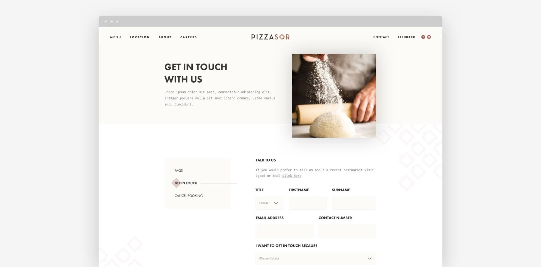 PizzaSQR - Get In Touch